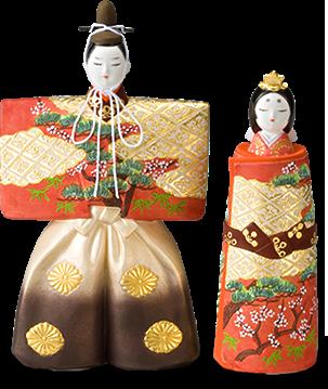 「博多人形」の雛で祝う初節句